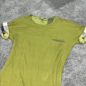 Green crew neck Burberry Brit t-shirt
